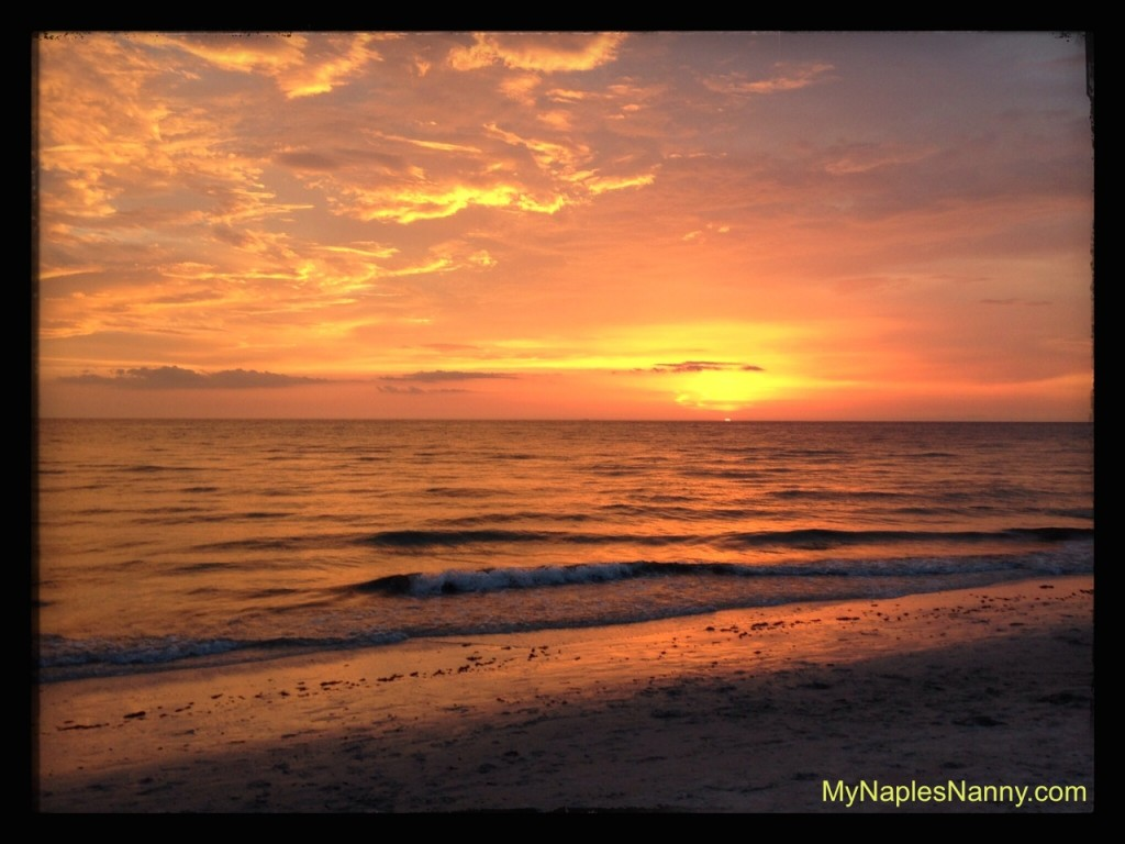 Beautiful Beach Sunset Near Ritz Carlton Naples Florida My Naples Nanny